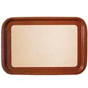 DIA-FE-009/BR Ξύλινος δίσκος σερβιρίσματος με φελλό, 73x47cm, καφέ, Ελληνικής κατασκευής