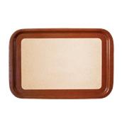 DIA-FE-006/BR Ξύλινος δίσκος σερβιρίσματος με φελλό, 61x41cm, καφέ, Ελληνικής κατασκευής