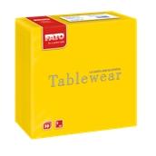 88400300 ΠΑΚΕΤΟ 50 Χαρτοπετσέτες Airlaid Tablewear 40x40 κίτρινες, FATO Ιταλίας