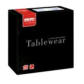 88405000 ΠΑΚΕΤΟ 50 Χαρτοπετσέτες Airlaid Tablewear 40x40 μαύρες, FATO Ιταλίας