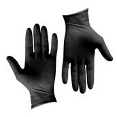 GLV-BK/XL Σετ 100τεμ γάντια Λάτεξ μεγάλης αντοχής, χωρίς πούδρα, μαύρα, X-LARGE