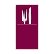 88480200 ΠΑΚΕΤΟ 50 Χαρτοπετσέτες Airlaid  Quick Pocket 40x40 Tablewear μπορντώ, FATO Ιταλίας