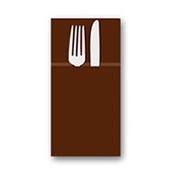 88480300 ΠΑΚΕΤΟ 50 Χαρτοπετσέτες Airlaid  Quick Pocket 40x40 Tablewear σοκολατί, FATO Ιταλίας