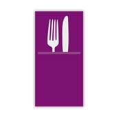 88480100 ΠΑΚΕΤΟ 50 Χαρτοπετσέτες Airlaid  Quick Pocket 40x40 Tablewear aubergine, FATO Ιταλίας