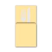 88480700 ΠΑΚΕΤΟ 50 Χαρτοπετσέτες Airlaid  Quick Pocket 40x40 Tablewear σαμπανιζέ, FATO Ιταλίας
