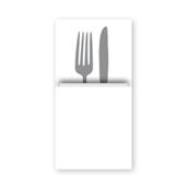 88470000 ΠΑΚΕΤΟ 40 Χαρτοπετσέτες Airlaid Quick Pocket 40x40 Tablewear λευκές, FATO Ιταλίας