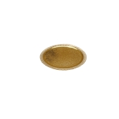 LEORRP25A Δίσκος-Βάση Τούρτας Πλαστικοποιημένη πολυτελείας, Φ25cm σε χρυσό χρώμα, Ιταλίας