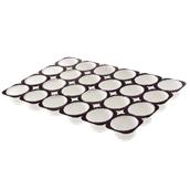 TS210 Δίσκος (57.6x38.4cm) με 24 λευκές χάρτινες θήκες ψησίματος για Muffin φ78x30mm, Ιταλίας