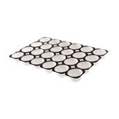 TS110 Δίσκος (50.4x33.6cm) με 24 λευκές χάρτινες θήκες ψησίματος για Muffin φ63x36mm, Ιταλίας