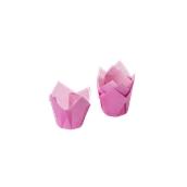 TV5R01 Xάρτινη θήκη ψησίματος Tulip, φούξια, Tulip φ50(βάση)x50mm, Ιταλίας