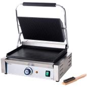 263662 Ηλεκτρική τοστιέρα Grill «PANINI» 34x23cm, Ραβδωτή Πάνω - Λεία Κάτω, 2200W, HENDI