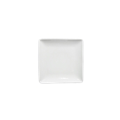 EDGE-FP-22 Πιάτο Ρηχό πορσελάνης τετράγωνο 16x16cm - φ22cm, Σειρά EDGE, LUKANDA