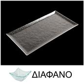 LK1870R-TR-32X53 Δίσκος ορθογώνιος από χυτό γυαλί 6mm, 32x53cm, διαφανές