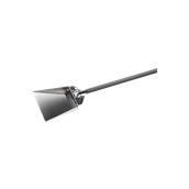 AC-PL Φαράσι ανοξείδωτο 22x20cm αφαίρεσης στάχτης με κοντάρι αλουμινίου, Ολικό Μήκος 1,75cm