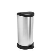 BLK582-40LT Κάδος με πεντάλ, 40L, 30.9x34.9x69.7cm, πλαστικός μεταλιζέ, Curver