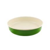 740504 Ταψί στρογγυλό εμαγιέ, φ32cm, πράσινο-μπεζ