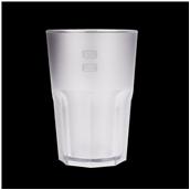 3763PS-21F Πλαστικό ποτήρι PS πισίνας 42cl λευκό πάγου