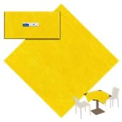 PT10-07 Τραπεζομάντηλο 1x1m, NonWoven (υφή υφάσματος), Κίτρινο
