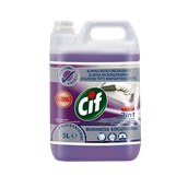 CIF-100862179/5LT Συμπυκνωμένο καθαριστικό και απολυμαντικό 5lt, χρήση σε χώρους επεξεργασίας τροφίμων, Cif