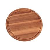 64002 Ξύλινο Πιάτο με ΛούκιΣτρογγυλό, Φ30x1,5cm, από Ακακία
