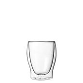 DUOS/35CL Γυάλινο ποτήρι καφέ, διπλών τοιχωμάτων 35cl, φ9x11.5cm, Luigi Bormioli
