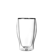 DUOS/47CL Γυάλινο ποτήρι καφέ, διπλών τοιχωμάτων 47cl, φ9x15cm, Luigi Bormioli