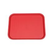 SYR-010118/RD Πλαστικός δίσκος Fast Food, 40x30cm, κόκκινος, Ελληνικής κατασκευής