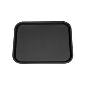 SYR-010118/BK Πλαστικός δίσκος Fast Food, 40x30cm, μαύρος, Ελληνικής κατασκευής