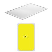 DAM-LID-1.1 Καπάκι διάφανο PP, Αεροστεγές, για δοχεία DAM, GN1/1 (325 x 530mm)