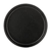 SYR-010188/BK Πλαστικός δίσκος βαθύς με αντιολισθητικό λάστιχο, φ36cm, μαύρος, Ελληνικής κατασκευής