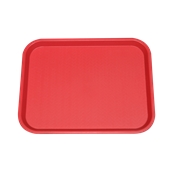 SYR-010120/RD Πλαστικός δίσκος Fast Food, 46x35cm, κόκκινος, Ελληνικής κατασκευής