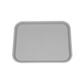 SYR-010118/GR Πλαστικός δίσκος Fast Food, 40x30cm, γκρι, Ελληνικής κατασκευής