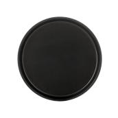 SYR-010186/BK Πλαστικός δίσκος με αντιολισθητικό λάστιχο, φ30cm, μαύρος, Ελληνικής κατασκευής