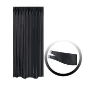 BOC-144X250/02 Κουρτίνα Blackout 144x250cm, με 1 δέσιμο, 230gr 100% Polyester, Μαυρο