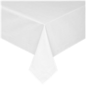 CTH-140X140/WH Τραπεζομάντηλο, 140x140cm, 100% spun polyester, 240gsm, λευκό satin