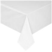 CTH-160X160/WH Τραπεζομάντηλο, 160x160cm, 100% spun polyester, 240gsm, λευκό satin