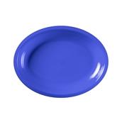 2754-34 Πιάτο πλαστικό οβάλ PP 25,5x19,5 cm μπλε