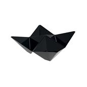 6111-19 Πλαστικό μπωλ Origami PS, 13x13cm, μαύρο