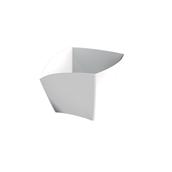 6113-11 Πλαστικό μπωλ Curve PS, 90cc, άσπρο