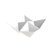 6111-11 Πλαστικό μπωλ Origami PS, 13x13cm, άσπρο