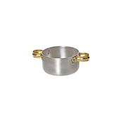 05-9208 Κατσαρολάκι αλουμινίου με ορειχάλκινα χερούλια, φ8x4.5cm (πάχος 1mm)