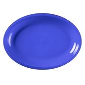 2755-34 Πιατέλα πλαστική οβάλ PP 30,5x21,5cm μπλε