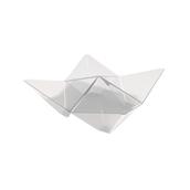6111-21 Πλαστικό μπωλ Origami PS, 13x13cm, διάφανο