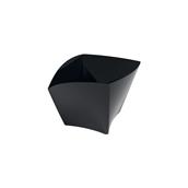6113-19 Πλαστικό μπωλ Curve PS, 90cc, μαύρο