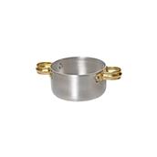 05-9210 Κατσαρολάκι αλουμινίου με ορειχάλκινα χερούλια, φ10x4.5cm (πάχος 1mm)