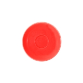 SC1-09/RD Πιατάκι πορσελάνης για φλυτζάνι 90cc, κόκκινο, σειρά Rio, LUKANDA