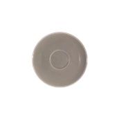 SC1-09/DGR Πιατάκι πορσελάνης για φλυτζάνι 90cc, σκούρο γκρι, σειρά Rio, LUKANDA