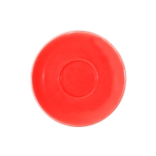 SC1-38/RD Πιατάκι πορσελάνης για φλυτζάνι 380cc, κόκκινο, σειρά Rio, LUKANDA