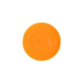 SC1-09/OR Πιατάκι πορσελάνης για φλυτζάνι 90cc, πορτοκαλί, σειρά Rio, LUKANDA