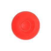 SC1-28/RD Πιατάκι πορσελάνης για φλυτζάνι 280cc, κόκκινο, σειρά Rio, LUKANDA
